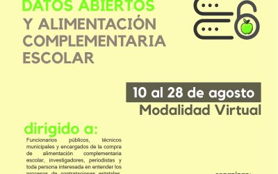 Curso introductorio a las contrataciones abiertas, datos abiertos y Alimentación Complementaria Escolar