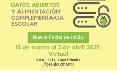 Curso introductorio a las contrataciones abiertas, datos abiertos y Alimentación Complementaria Escolar 2021